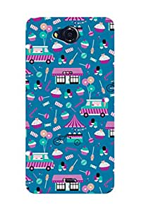 ZAPCASE PRINTED BACK COVER FOR MICROMAX CANVAS PLAY Q355 Multicolor