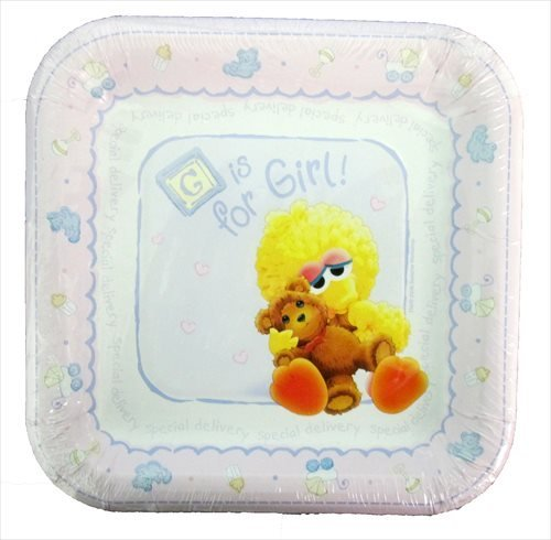 Sesame Street Beginnings 'B is for Baby' Small Paper Plates (8ct)