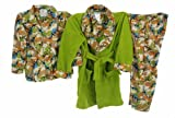 Bunz Kidz Baby Bunz Boys 2-7 Toddler Dino Camo 3 Piece Robe And Pajama Set Pajama Sleeper