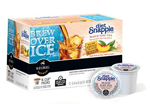 Snapple Diet Peach Iced Tea, Keurig K-Cups, 72 Count (Keurig Tea K Cups Peach compare prices)