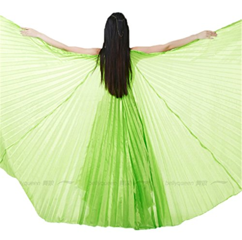 Dreamspell Beautiful Big Isis Wings fruit green Transparent for Belly Dance
