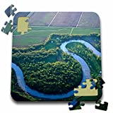 Danita Delimont - Rivers - Red River of the North, Minnesota and North Dakota - US35 CHA0136 - Chuck Haney - 10x10 Inch Puzzle (pzl_93289_2)