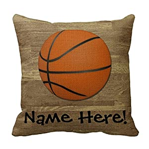 Zippered Floor Pillows : Amazon.com - Personalized Basketball Wood Floor Pillows Square Throw Pillow Cover Cushion Case ...