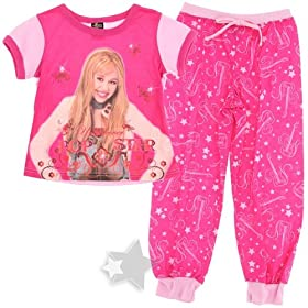 Hannah Montana Pink Undercover Popstar Pajamas for Girls