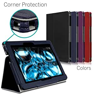 [CORNER PROTECTION] CaseCrown Bold Standby Pro Case (Blue) for 2013 All-New Amazon Kindle Fire HDX 8.9 Inch Tablet (NOT for 2012 Kindle Fire HD 8.9) with Sleep / Wake, Hand Grip & Multi-Angle Viewing Stand
