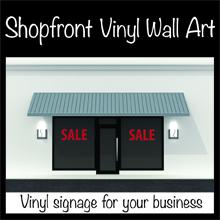 Shopfront vinyl signage
