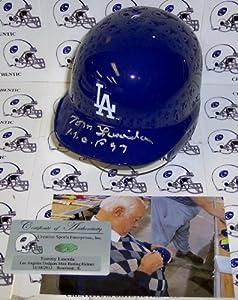 Tommy LaSorda Hand Signed Los Anegeles Dodgers Mini Helmet - PSA DNA - Autographed... by Sports+Memorabilia