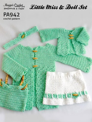 Crochet Pattern Little Miss and Doll Set PA942-R