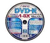 ZERO DVD-R4.7GB1回録画用ワイドプリンタブル1-8倍速スピンドルケース10枚入り ZER47-8X10PW