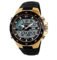Skmei Analogue-Digital Black Dial Men's Watch - 1031