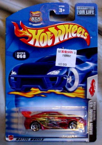 Hot Wheels 2003 Dragon Wagons Toyota Celica 4/5 RED #068 #68 1:64 Scale - 1