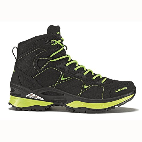 LOWA Ferrox GTX MID All Terrain Outdoor Schuhe schwarz-limone 48,5