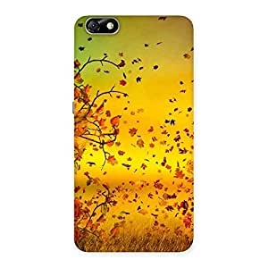 Delighted Flying Autumn Leaves Back Case Cover for Honor 4X