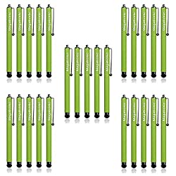 Touch Screen Stylus Pen, [Set of 500] [[Metallic Green ] Universal Capacitive Touch Screen Stylus/Styli Pen By MEGATRONIC for Apple iPhone, iPad, iPod, Samsung Galaxy, Android, Motorola, Blackberry, HTC, Nokia, Sony Playstation, PSP and Other Capacitive Touch Screens Smart Phones and Tablets - [CHEAPER THAN WHOLESALE]