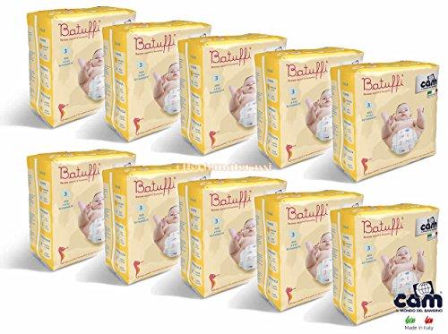 CAM Pannolini Batuffi mod. Immagina taglia 3 MIDI 4-9 kg 200 pannolini V426