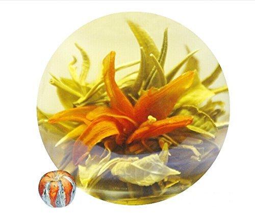 Be Oneself Fresh Flavor Natural Craft Flower Tea Blooming Jasmine Flower Tea Ball Phoenix Flying Set Of 10 80G Unique Healthy Tea