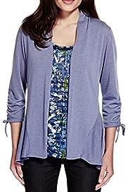 Per Una Floral Top & Cardigan Set [T62-5104H-S]