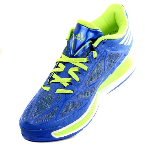 on sale d960d bb485 pictures of Adidas adizero Crazy Light 3 Low Basketball Shoe - BlueSolar  Slime -