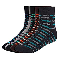 His Honour Men's Fashion Angle Length Socks (Pack of 5 Pairs)