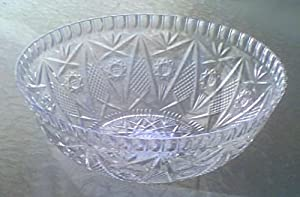 Crystal Serving Bowl - Made of Plastic by Momentum Brands