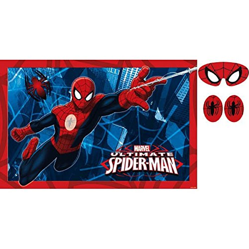 Spider-Man Party Game, Pin The Emblem to The Spidey Suit, Multicolored