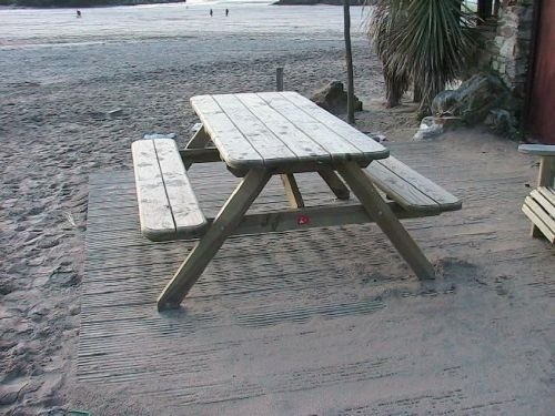 Traditional Picnic Bench 8' 240 cm & parasol hole