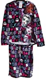 Monster High Girls Button Up Long Sleeve 2pc Pajama Set (Girls-Large (10/12))