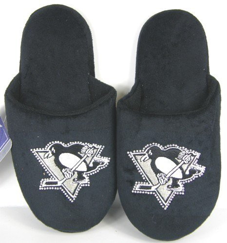 Image of Pittsburgh Penguins Womens Jeweled Slippers (B006KYQQFS)