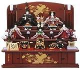 ひな人形 平安優香 作 五人飾り 三段 会津塗 1345yk 段飾り 雛人形