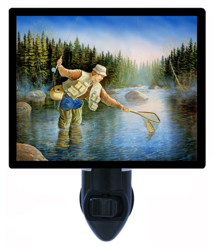 Fishing Night Light - Trout Fisherman - Led Night Light front-1052522