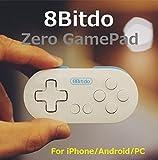 FC30シリーズ - 超小型のコントローラー 「Zero GamePad」(カラー:ホワイト&ブルー) (サイズ約7.3cm x 3.5cm) (Android/iOS/Windows/Mac OS用) レトロゲームコントローラ ワイヤレスブルートゥースゲームパッド Wireless Bluetooth Gamepad Dianziオリジナルバージョン[CXD0977] [並行輸入品]