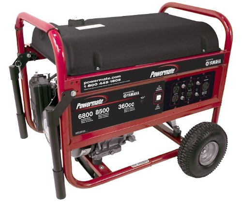 Powermate PM0676801 8,500 Watt 357cc 12 HP Yamaha MZ 360 Gas Powered Portable Generator