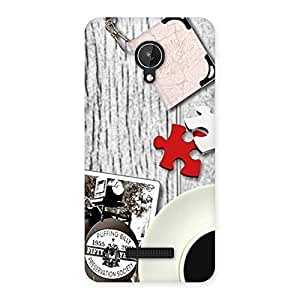 Vintage Style Multicolor Back Case Cover for Micromax Canvas Spark Q380