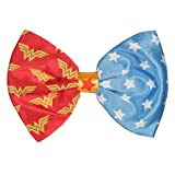 Wonder Woman Logo And Stars Clip On Hair Bow