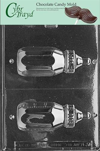 Cybrtrayd B037 Baby Bottle Baby Chocolate Candy Mold, 4-Ounce