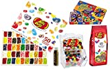 Jelly Belly Family Fun Pack Gift Box- 50 flavor Sampler Gift Box, Bean-boozeled Spinner Game, 7.5 Oz Assorted Jelly Beans, a Mini Bean Bin and a Jarosa Bee Organic Chocolate Bliss Lip Balm