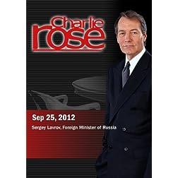 Charlie Rose - Sergey Lavrov (September 25, 2012)