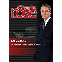Charlie Rose - Sergey Lavrov (September 25, 2012)