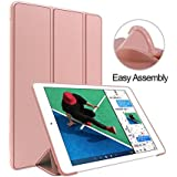 IPad Pro 10.5 Inch Case (Ultra Slim) Magnetic Stand Folio Case With (Flexible Soft Protective TPU Back) Smart Flip Cover Case For Apple IPad Pro 10.5 Inch 2017 Launched Model - A1701 / A1709 Flip Case Cover (Rose Gold)