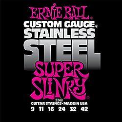 Ernie Ball 2248 Super Slinky Custom Gauge Electric Guitar Strings