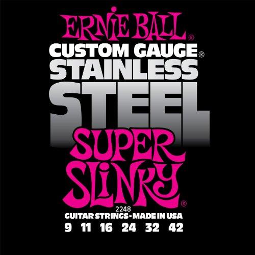 Ernie Ball 2248 Stainless Steel Super Slinky String Set (09 - 42)