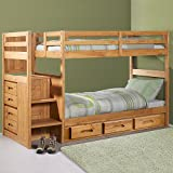 Explorer Twin Twin Ranch Staircase Bunk w/ 3 Drawers