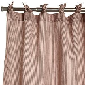 Coyuchi Mini Stripe Cotton Linen Shower Curtain Natural With Brick