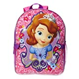 Disney Little Girls' Princess Sofia Backpack with Lunch Box, Pink, One Size
