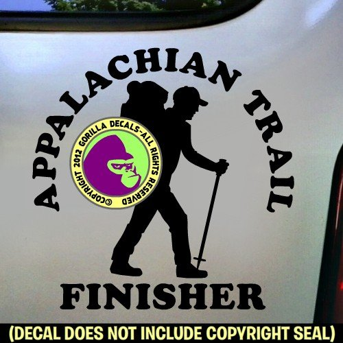 APPALACHIAN TRAIL FINISHER Hiking Vinyl Decal Sticker 2 (Camper Hiking Boots compare prices)
