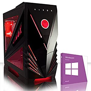 VIBOX Ultra 11SW - Quad Core, Home, Office, Family, Gaming PC, Multimedia, Desktop PC, Computer with Windows 8.1 (New 3.9GHz (4.2GHz Turbo) AMD A8 6600K Fast Quad Core APU Processor, Powerful Radeon HD8570D Integrated Graphics Chip, 1TB HDD Hard Drive, 16GB 1600MHz RAM)