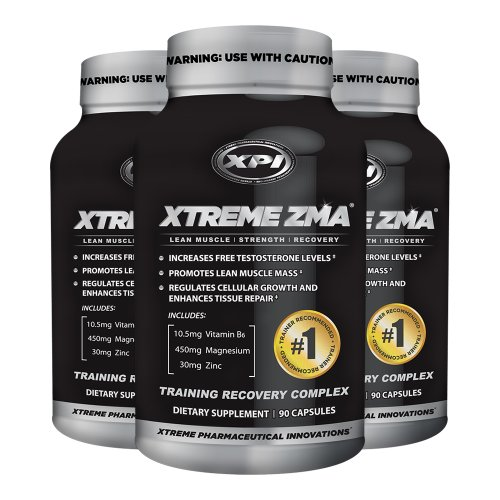 Xtreme Zma (3 Pack) - Muscle Recovery - Post Work Out Supplement, Work Out Supplements