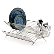 RSVP Folding Dish Rack Stainless Steel New