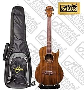 oscar schmidt acoustic electric baritone ukulele w gig bag koa wood ou55ce. Black Bedroom Furniture Sets. Home Design Ideas