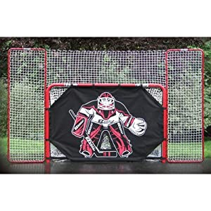 Buy EZ Goal 2 in. Folding Steel Hockey Goal with Backstop - Shooter Tutor & Targets by EZGoal